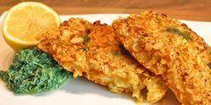 Panierter Fisch bei Low Carb? Kein Problem! Ein leckeres Low Carb Rezept für Dorschfilet in Mandel-Basilikum-Panade. Dazu Gemüse und Remoulade ...