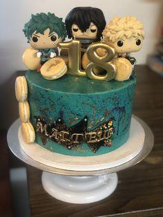 #birthdaycake #macarons #myarcadehero #cakepopmafia Sugar Art, Sweet Cakes, Macarons, Birthday Cake, Desserts, Food, Tailgate Desserts, Deserts, Birthday Cakes