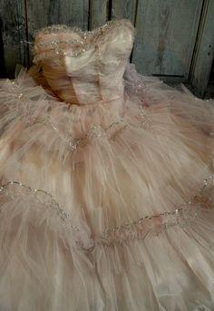 vintage tulle dress