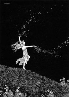 Ida Rentoul Outhwaite ~ Fairy Beauty Scattering Stars ~ The Enchanted Forest ~ 1921