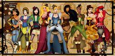 disney princesses if they were superhero | Disney Princesses as Punks, Superheros, Goths, High School Girls ...
