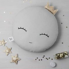 White or Gray Sleepy eyes Crown Moon Pillow Moon cushion for baby nursery pillow kids room decor neutral gender baby shower gift for newborn - Moon Nursery decor, Sleepy eyes Full Moon Pillow Moon cushion, kids pillows baby pillow kids room d - Crib Pillows, Kids Pillows, Pillow Room, Baby Nursery Neutral, Gender Neutral Baby Shower, Newborn Nursery, Baby Newborn, Baby Baby, Diy Baby Gifts