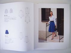 """Button up shirt sewing pattern from the Japanese sewing book, """"Clothes to Wear Everyday""""."""