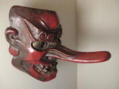 Kappa Bashi Home Creations features a wide array of traditional Japanese Masks, including various Kagura and Hanya masks. Japanese Drawings, Japanese Tattoo Art, Japanese Tattoo Designs, Kitsune Mask, Mask Drawing, Japanese Mask, Japanese Folklore, Body Sketches, Japan Tattoo