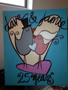 And renew your love for Twiggy on your anniversary!   Paintings by Twiggy Originals/Twiggy Bridal