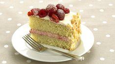 Mandlový piškotový dort s malinami   Prima Fresh