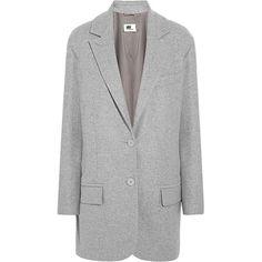 Wool-blend felt coat (25.085 RUB) ❤ liked on Polyvore featuring outerwear, coats, jackets, coats & jackets, mm6 maison margiela, wool blend coat and felt coat
