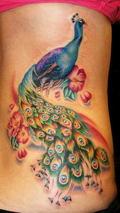 peacock tattoo... beautiful