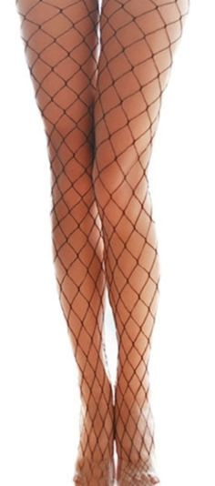 Our fishnet tights give any outfit a sensual vibe. - One size fits most - Elastic waist band - Machine wash, lay flat to dry