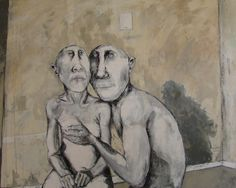 """Title: Tenderness Mixed Media 48""""60"""""""
