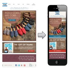 Responsive design centered around having mobile formatted images to better suit smaller screens