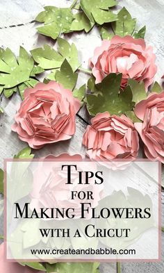 Making Paper Flowers with a Cricut - Create and Babble Tips for Making Paper Flowers with a Cricut How To Make Paper Flowers, Diy Flowers, Handmade Flowers, Diy Paper, Paper Crafts, Cork Crafts, Easy Crafts, Crafts For Kids, Kids Diy
