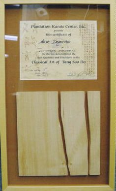 To display Tae Kwon Do boards