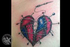 STITCHED UP HEART TATTOO - Google Search
