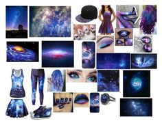 """""""Galaxy"""" by wolfgirl-99 on Polyvore featuring WithChic, HVBAO and UNIF"""