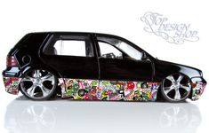 Sticker Bomb Autofolie - car wrapping 3D Design A