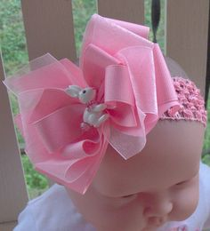 Pink Easter Hair Bow