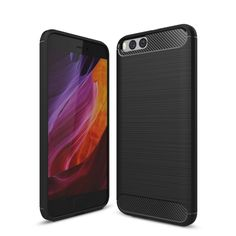 [$2.11] Xiaomi Mi 6 Brushed Texture Carbon Fiber Shockproof TPU Rugged Armor Protective Case (Black)