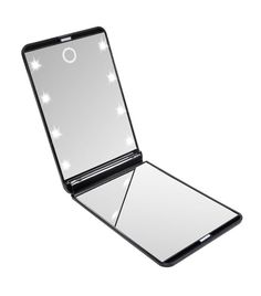 HotLife LED Lighted Makeup Mirror with 8 Dimmable Led Lights, Touch Switch Travel Mirror, Compact Mirror