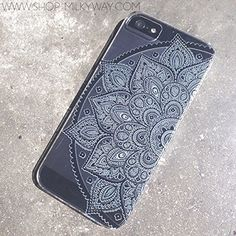 Plastic Case Cover for iPhone 5 5S 5C 6 6Plus (Pick One) Henna White Floral Paisley flower mandala ethnic tribal:Amazon:Cell Phones & Accessories