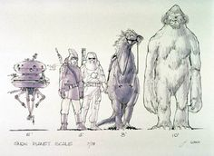Joe Johnston concept art for Star Wars- Empire Strikes Back- influence/inspiration for Chris Grun Joe Johnston, Star Wars Concept Art, Star Wars Rpg, For Stars, Moose Art, Sci Fi, Digital Art, Character Design, Sketches