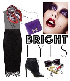 """eyes"" by omahtawon ❤ liked on Polyvore featuring Yves Saint Laurent, Marc Jacobs, Zibi London, Jimmy Choo and brighteyes"