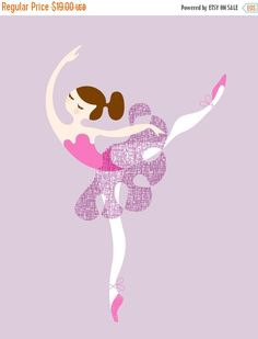 Fall Sale 8X10 ballerina arabesque giclée print on by ThePaperNut