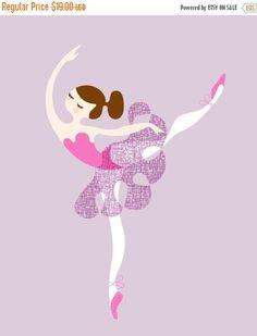 Fall Sale 8X10 ballerina arabesque giclée print on by ThePaperNut