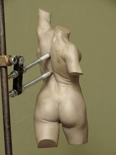 Nick Bibby sculpture. Brilliant armature support.