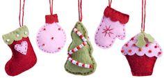 ☆☆Oh du schöne Weihnachtszeit☆☆ Weihnachts-Symbole aus Filz