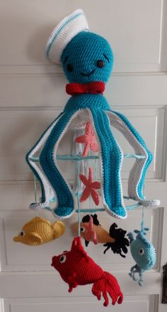 Crochet Baby Mobile Under the Sea Mobile