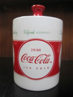 Coca-Cola Canister Cookie Jar