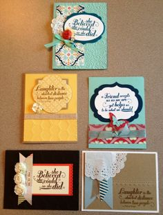 Handmade cards using the Feel Goods stamp set from Stampin' Up!