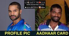 Profile pic vs aadhaar card #Cricket   #IPL9   http://www.crickettrolls.com/2015/12/20/profile-pic-aadhaar-card/