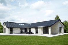 Bungalow store - Scandinavian | 2019 Modern Bungalow House, Bungalow House Plans, Dream House Plans, Small Modern House Plans, Small Villa, Bungalow Renovation, Bungalows, House Layouts, Scandinavian Home
