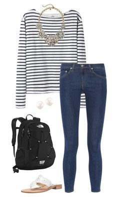 """""""ootd! :)))"""" by sassy-and-southern ❤ liked on Polyvore featuring Wood Wood, rag & bone, J.Crew, Jack Rogers and The North Face"""