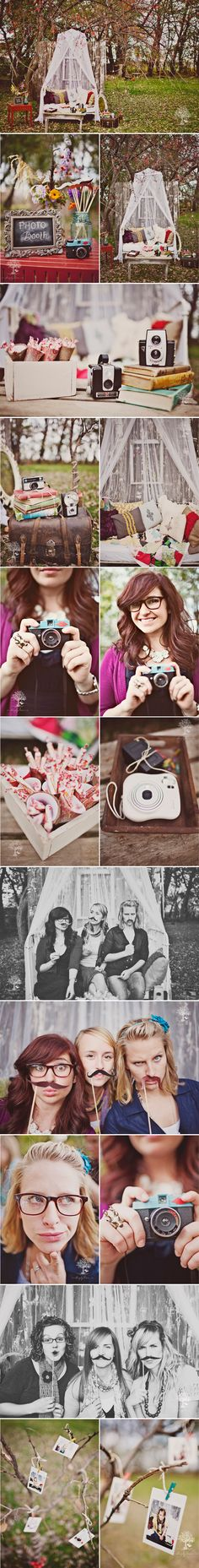 Okay cute idea with the photo booth...might be a fun idea to have at a wedding or even set up for a family gathering or holiday party?