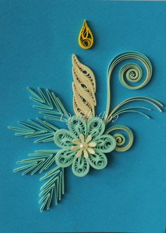70 fantastic Christmas decorations and construction paper and technical Quilling! Do it yourself - Construction DIY - Do it yourself Neli Quilling, Paper Quilling Flowers, Paper Quilling Cards, Paper Quilling Patterns, Origami And Quilling, Quilled Paper Art, Quilling Paper Craft, Paper Crafts, Quilling Images