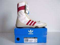 f4f33313975c New 70`s Vintage Adidas Wrestling Hi Retro Shoes Tops Boots 80`s Freestyle  BNWT