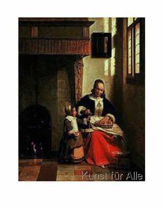Pieter de Hooch - Apfelschälerin