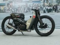 Custom Motorcycles, Custom Bikes, Cars And Motorcycles, Honda Cub, Scooter Motorcycle, Cafe Racer Motorcycle, Honda Bikes, Iron 883, Moto Style