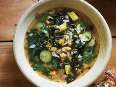 In this traditional Lucchese soup, vegetables and beans are slow-cooked until little to no bite remains, making it a rustic, comforting dish.