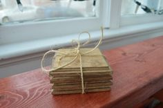Wooden Coaster set of 4 by LKWoodenthings on Etsy, $12.00 Wooden Coasters, Kitchen Things, Coaster Set, Free Shipping, How To Make, Etsy
