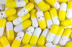 12 Yellow Cute Kawaii Colorful Capsule Message by FamousFindings