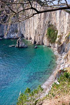 Playa del Silencio o Gavieira, Cudillero, Asturias Localizador GPS N 43º 34' 6.4'' - W 6º 17' 37.1''