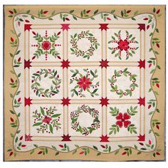 Beautiful Christmas quilt. I want to do this one.