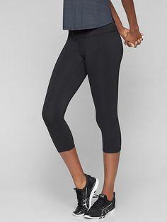 Zip Pocket Activewear Bottoms Hard-Working Athleta Colorblock Be Free Knicker Capris Xs X-small Black Activewear