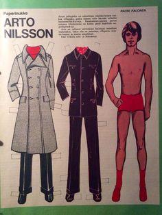 Finnish paper doll Arto Nilsson 60's