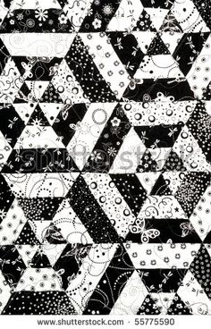 Image detail for -Homemade Quilt In Black And White Pattern Stock Photo 55775590 ...
