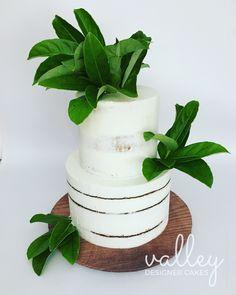 Rustic style semi naked cake